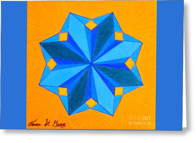 Abstract Geometric Pastels Greeting Cards - Soul-Flower Greeting Card by Teresa St George