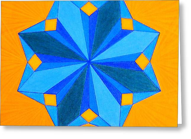 Spirituality Pastels Greeting Cards - Soul-Flower Greeting Card by Teresa St George