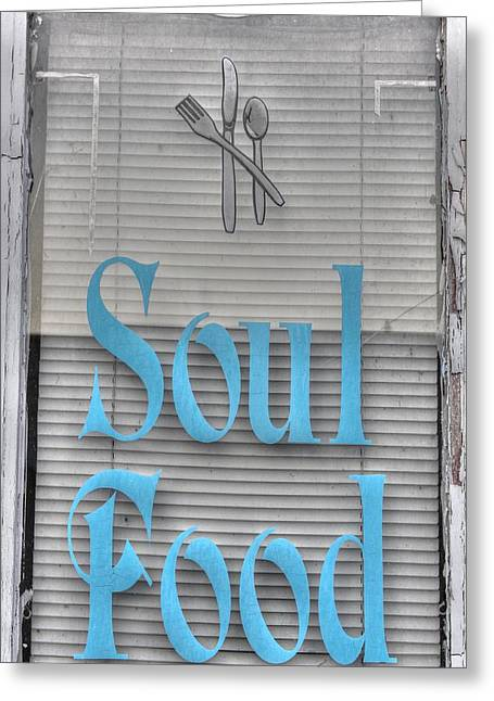 American Food Photographs Greeting Cards - Soul Food Greeting Card by Jane Linders