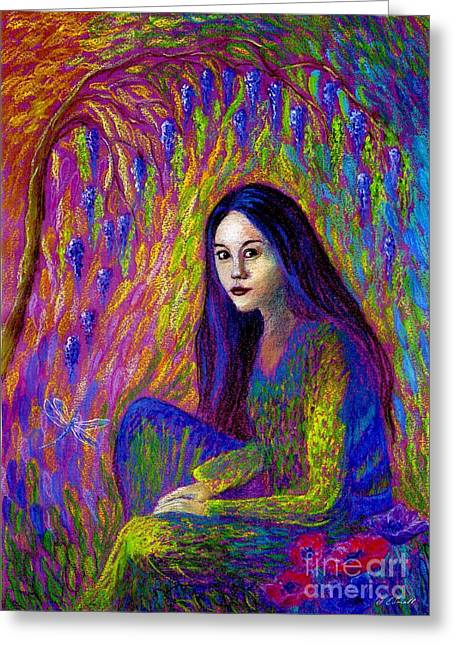 Most Paintings Greeting Cards - Soul Gaze Greeting Card by Jane Small