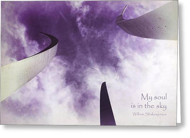Kim Klassen Texture Greeting Cards - Soul in the Sky - US Air Force Memorial Greeting Card by Julia Springer