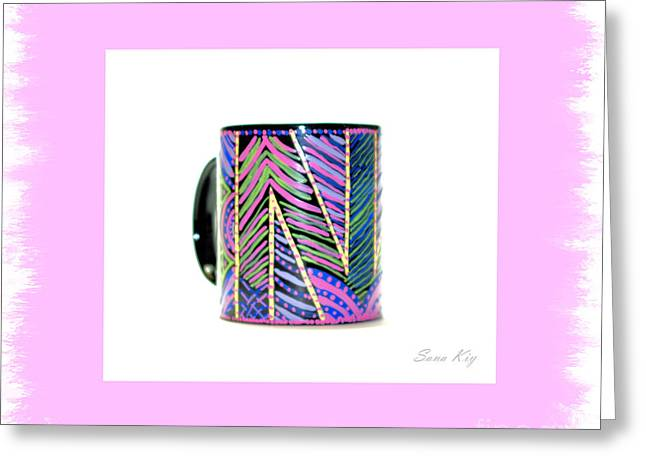 Cheer On Glass Art Greeting Cards - Soul Inspirations Collection Greeting Card by Oksana Semenchenko