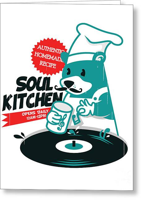 Rnb Greeting Cards - Soul Kitchen Greeting Card by Budi Satria Kwan