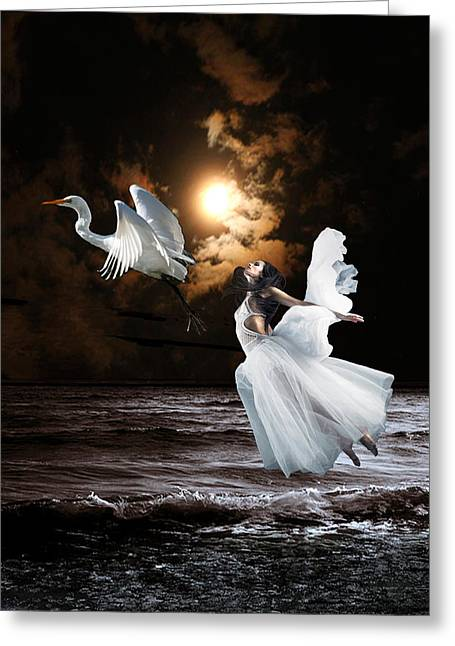 Ballet Dancers Greeting Cards - Soul Mate Greeting Card by Maureen Tillman
