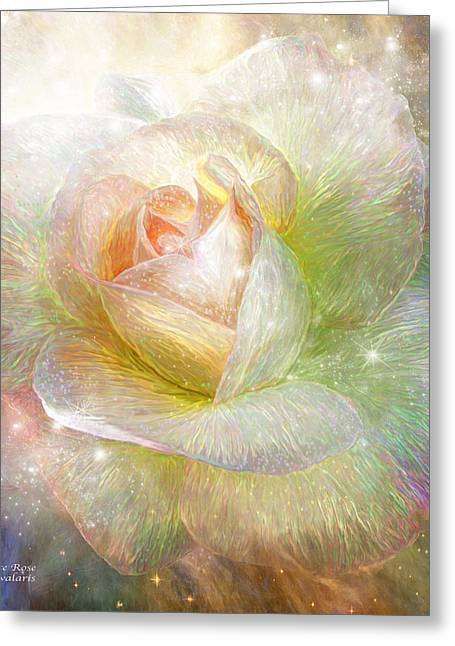 Orion Mixed Media Greeting Cards - Soul Mate Rose Greeting Card by Carol Cavalaris