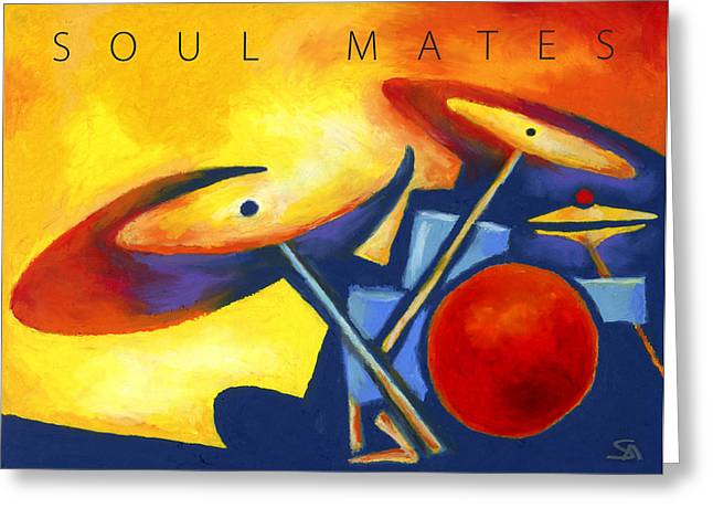 Soul Mates Poster Greeting Card by Stephen Anderson