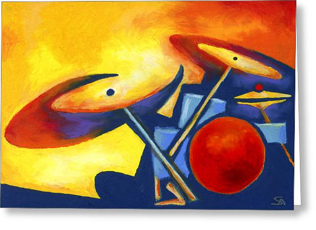Drum Kit Greeting Cards - Soul Mates Greeting Card by Stephen Anderson