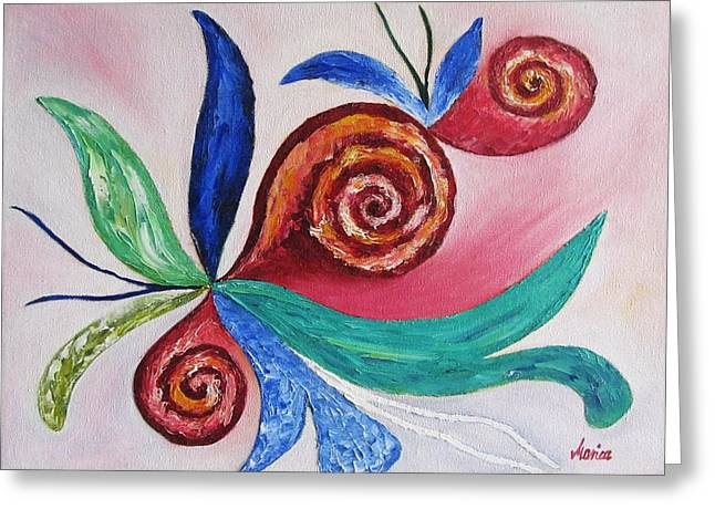 Stretched Canvas Greeting Cards - Soul Searching Greeting Card by Marianna Mills