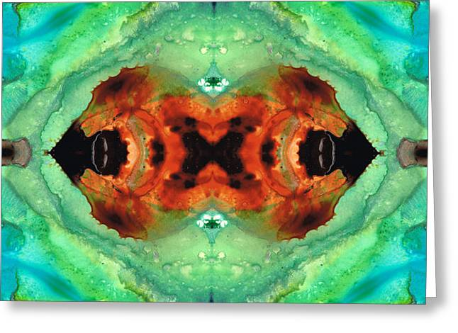 Soul Symphony - Abstract Art By Sharon Cummings Greeting Card by Sharon Cummings