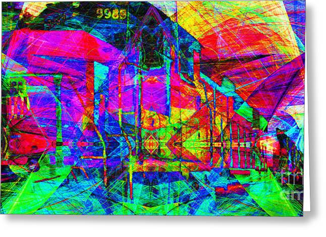 Burlington Northern Greeting Cards - Soul Train 20130620 Long Greeting Card by Wingsdomain Art and Photography