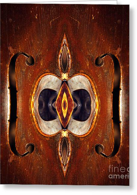 Geometric Design Greeting Cards - Soul Wood  Greeting Card by Steven  Digman