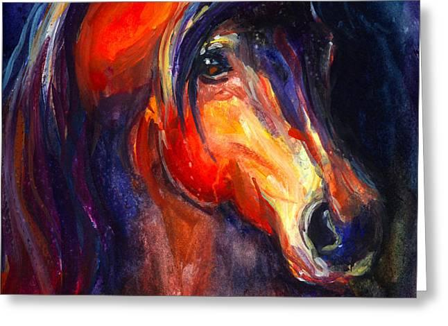 Soulful Horse painting Greeting Card by Svetlana Novikova