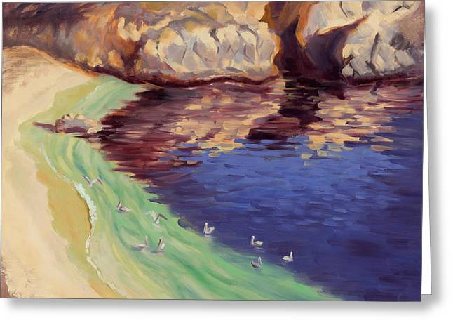 Best Sellers -  - Point Lobos Reserve Greeting Cards - Soulful Sanctuary Point Lobos Greeting Card by Karin  Leonard
