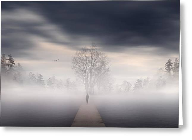 Misty Greeting Cards - Souls Journey Greeting Card by Lourry Legarde
