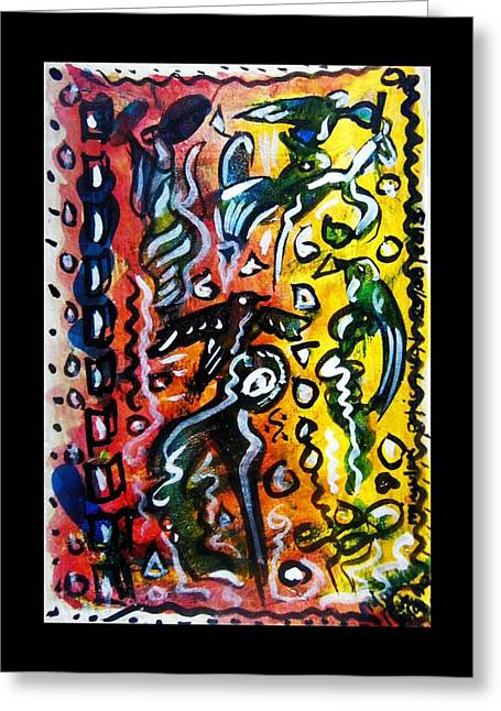 Souls Greeting Cards - Soulsalsa Greeting Card by Mimulux patricia no