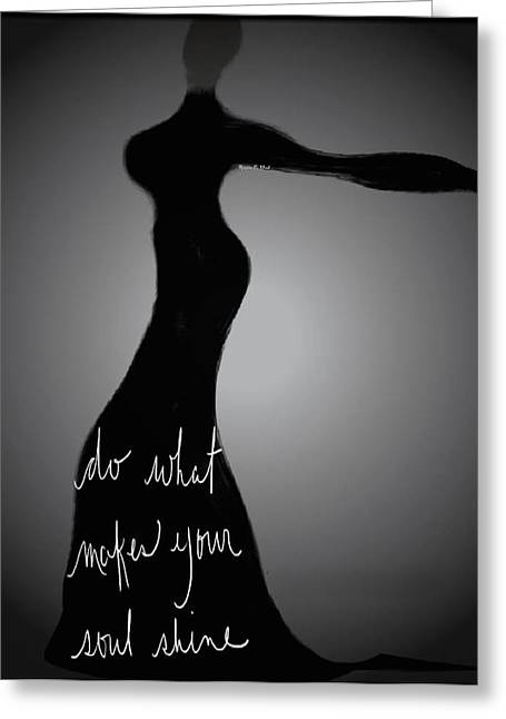 Romaine Digital Art Greeting Cards - SoulShine Greeting Card by Romaine Head