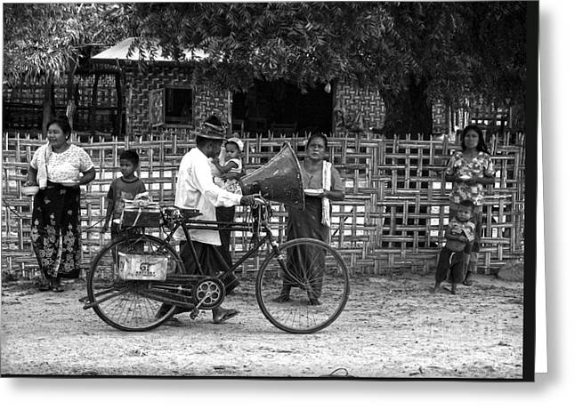 Documentary Photography Greeting Cards - Sound bike in Burma Greeting Card by RicardMN Photography