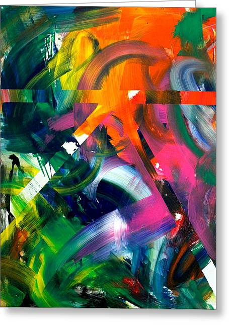 Abstract Expression Greeting Cards - Sound Garden Greeting Card by Richard Day