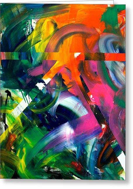 Abstract Expressions Greeting Cards - Sound Garden Greeting Card by Richard Day