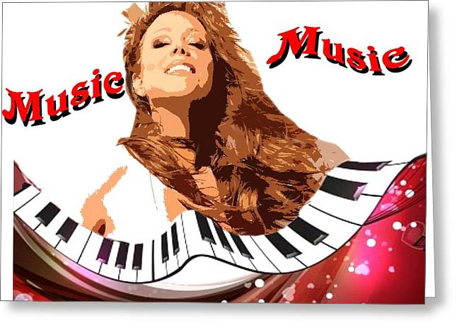 Mariah Carey Greeting Cards - Sound  Of  Music Greeting Card by Tony Ashley