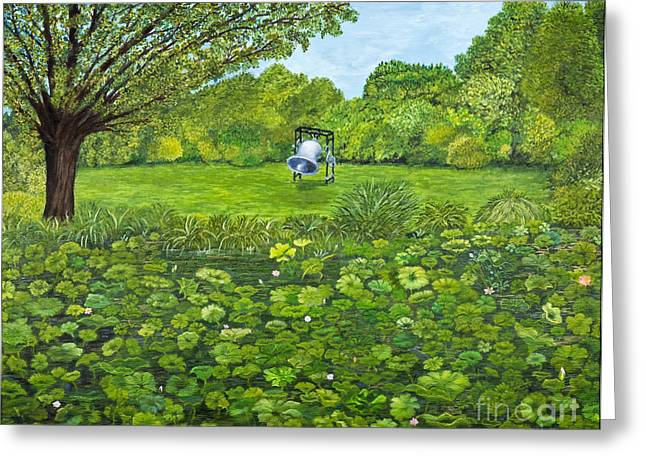 Pond In Park Greeting Cards - Sound of Nature by Kevin Davis Greeting Card by Sheldon Kralstein