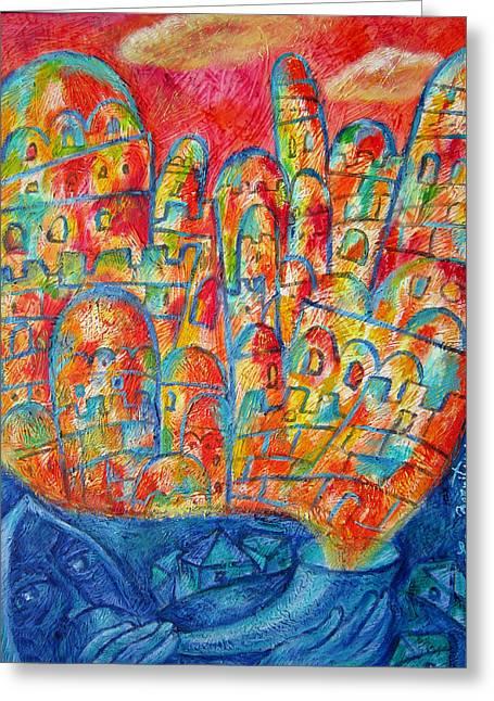 Sound Of Shofar Greeting Card by Leon Zernitsky