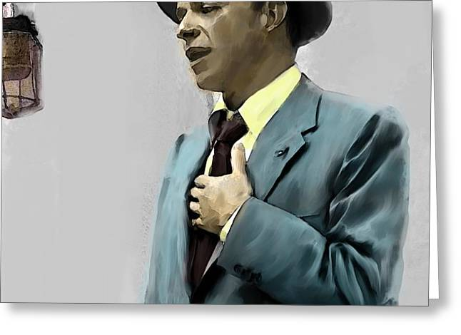 The Voice Greeting Cards - Sound of Sinatra Frank Sinatra  Greeting Card by Iconic Images Art Gallery David Pucciarelli