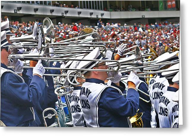 Marching Band Greeting Cards - Sounds of College Football Greeting Card by Tom Gari Gallery-Three-Photography