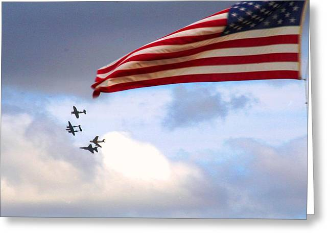 Jet Star Greeting Cards - Sounds of Freedom Greeting Card by David S Reynolds