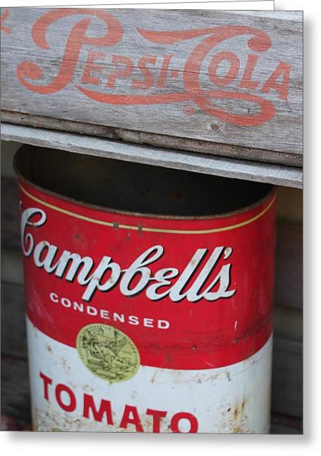 Pepsi Can Greeting Cards - Soup and Soda Greeting Card by Lesa Weller