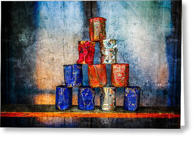Bullet Holes Greeting Cards - Soup Cans - After The Lunch Greeting Card by Alexander Senin