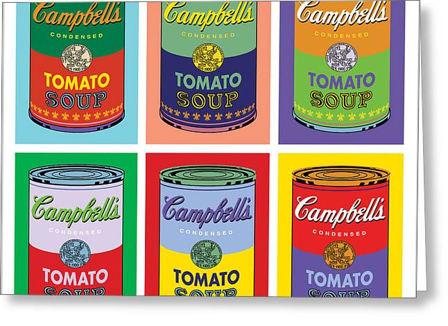 Vote Greeting Cards - Soup Cans Greeting Card by Gary Grayson