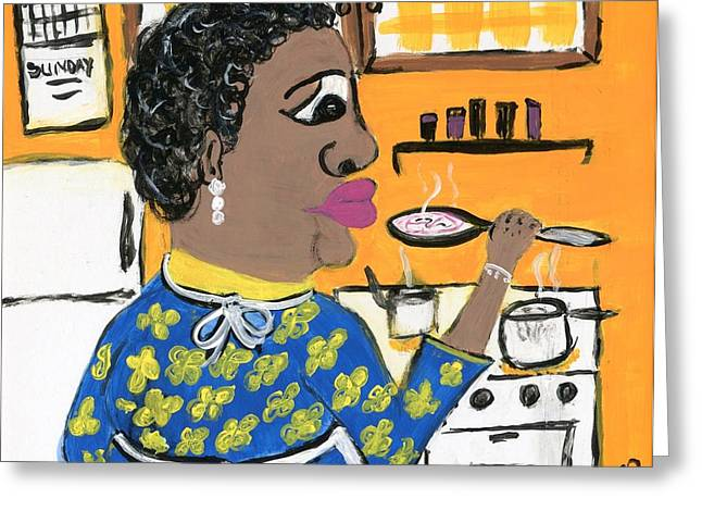 African-american Drawings Greeting Cards - Soup Coolers Greeting Card by The Robert Blount Collection