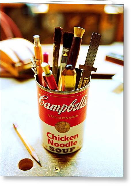 Campbell Greeting Cards - Soupcan Greeting Card by Yo Pedro