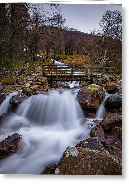 Long Exposure Greeting Cards - Sourmilk Gill Buttermere. Greeting Card by Daniel Kay