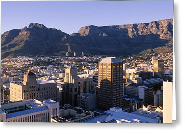 Cape Town Greeting Cards - South Africa, Cape Town And Table Greeting Card by Panoramic Images