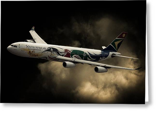 Airbus Greeting Cards - South Africa Greeting Card by Paul Job