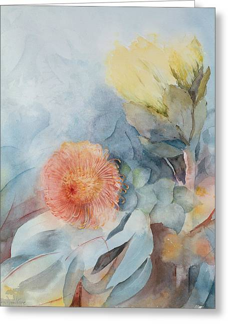 South Africa Protea Greeting Card by Karen Armitage