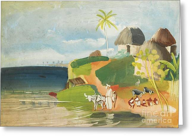 Orthodox Paintings Greeting Cards - South American Landscape Greeting Card by Boris Grigoriev