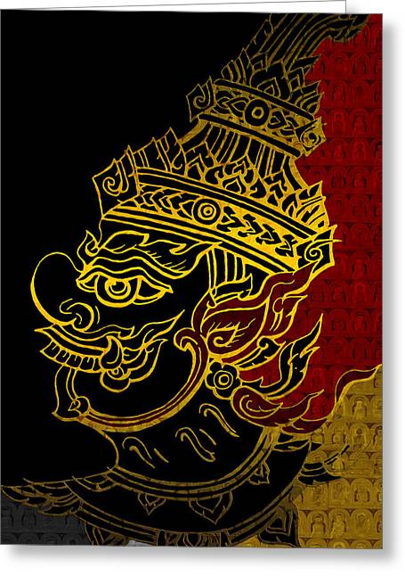 Corporate Art Greeting Cards - South Asian Art Motives Greeting Card by Corporate Art Task Force