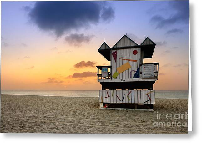 Wooden Structures Greeting Cards - South Beach 1 Greeting Card by Rod McLean