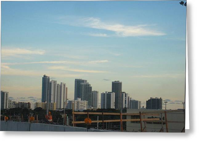 South Beach - 121237 Greeting Card by DC Photographer