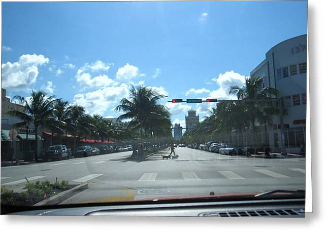 South Greeting Cards - South Beach - 12127 Greeting Card by DC Photographer