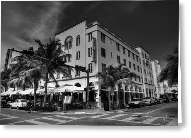 Edison Greeting Cards - South Beach - Edison Hotel 002 Greeting Card by Lance Vaughn