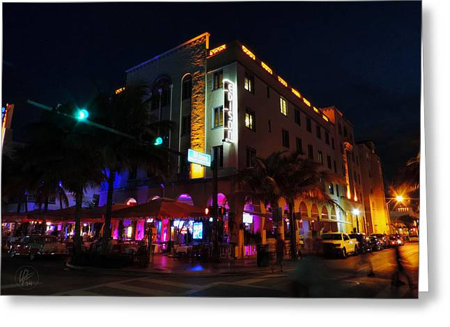 Edison Greeting Cards - South Beach - Edison Hotel 003 Greeting Card by Lance Vaughn