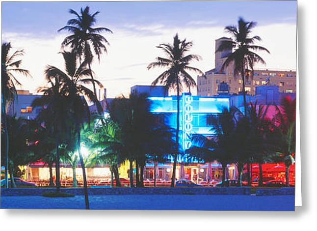 South Beach Miami Beach Florida Usa Greeting Card by Panoramic Images