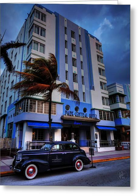 Hotels Greeting Cards - South Beach - Park Central Hotel 001 Greeting Card by Lance Vaughn