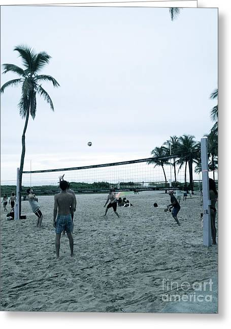 South Beach Framed Prints Greeting Cards - South Beach Volleyball Greeting Card by Diane Phelps