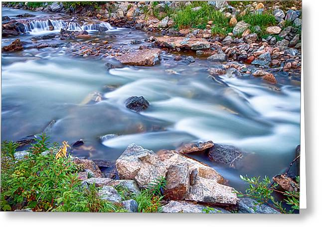 Beautiful Creek Greeting Cards - South Boulder Creek Little Waterfalls Rollinsville Greeting Card by James BO  Insogna