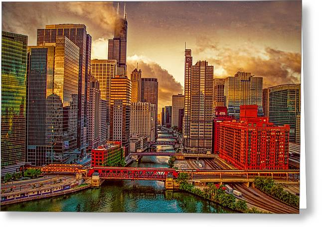 Ed Roth Greeting Cards - South Branch of the Chicago River Greeting Card by Ed Roth